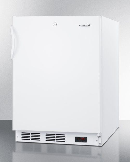 ADA Compliant Freestanding Medical All-freezer Capable of -25 C Operation, With Removable Basket Drawers and Front Lock
