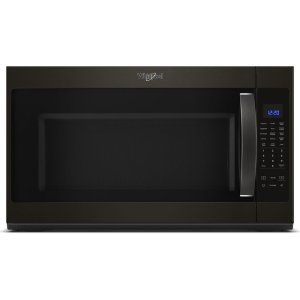 2.1 cu. ft. Over-the-Range Microwave with Steam cooking - FINGERPRINT RESISTANT BLACK STAINLESS