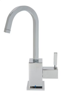 Point-of-Use Drinking Faucet with Contemporary Square Body & Handle - Brushed Nickel