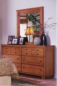 Dresser \u0026 Mirror - Cinnamon Pine Finish Product Image