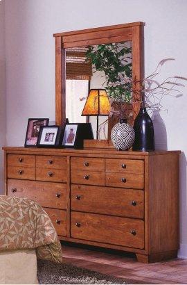 Dresser \u0026 Mirror - Cinnamon Pine Finish