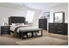 1042 Burbank Valspar King Bed with Dresser and Mirror