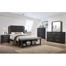 1042 Burbank Valspar Queen Bed with Dresser and Mirror