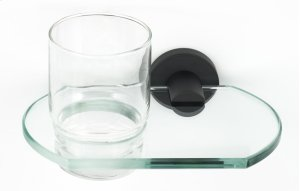 Contemporary I Tumbler Holder A8370 - Matte Black Product Image