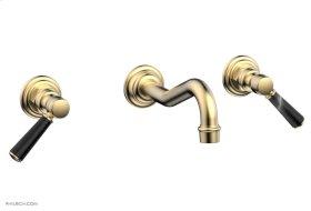 HENRI Wall Tub Set - Marble Lever Handles 161-58 - Satin Brass