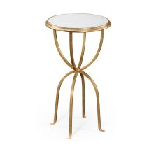 glomise & Gilded Iron Lamp Table with Bunched Legs