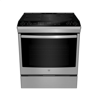 "GE Profile 30"" Electric Slide-In Induction Range with Storage Drawer Stainless Steel - PCHS920SMSS"