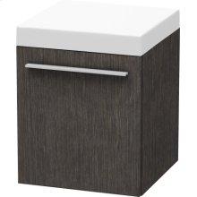 Mobile Storage Unit, Brushed Dark Oak (real Wood Veneer)