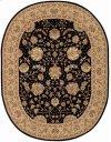 NOURISON 2000 2214 BLK OVAL RUG 7'6'' x 9'6''
