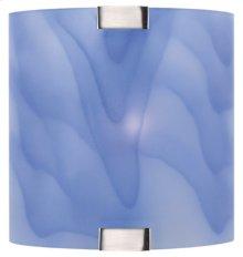 Wall Lamp, Ps W/light Blue Glass Shade, 40w/b Type