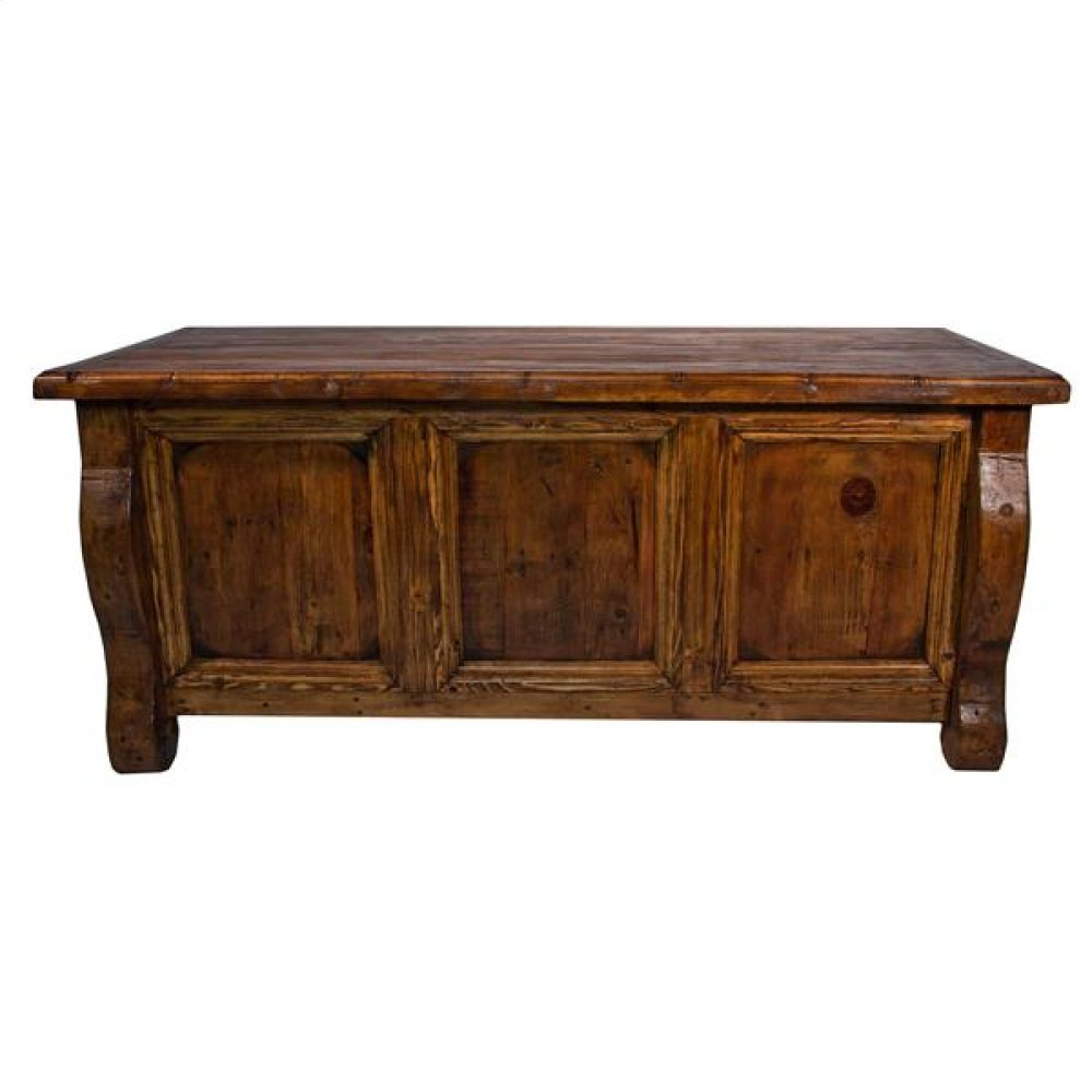 Old Wood Desk W/Double Drawers
