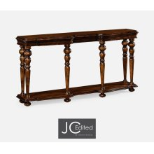 Rectangular Rustic Walnut Console