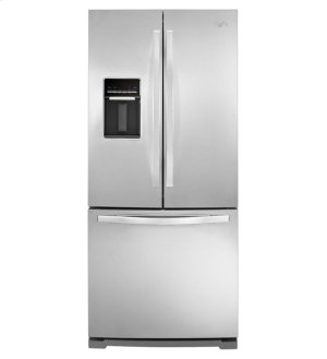"""19.6 cu. ft. 30"""" French Door Refrigerator with Exterior Water Dispenser Product Image"""