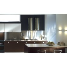 """Cylindra 15"""" Stainless,Glass Wall Hood"""