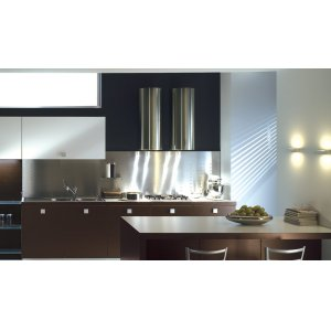 "FaberCylindra 15"" Stainless,Glass Wall Hood"