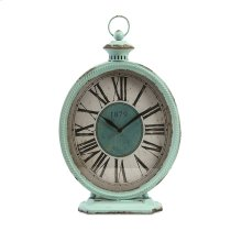 Arnold Teal Metal Clock