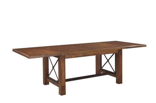 Trestle Dining Table W/leaves