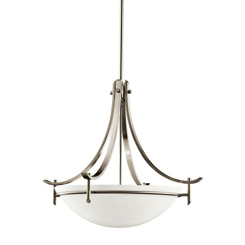 Olympia 3 Light Inverted Pendant Antique Pewter