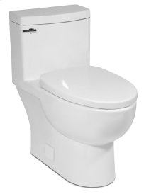 White MALIBU II One-Piece Toilet 1.28gpf, Compact Elongated
