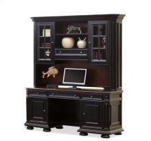 Allegro Credenza Hutch Burnished Cherry/Rubbed Black finish