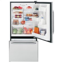 GE® ENERGY STAR® 18.1 Cu. Ft. Stainless Bottom-Freezer Drawer Refrigerator