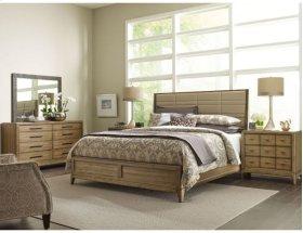 Upholstered King Sheltered Bed - Complete