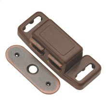 1-1/2 In. Statuary Bronze Magnetic Catch
