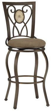 Brookside Oval Back Swivel Bar Stool
