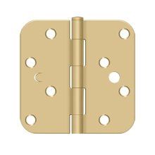 "4"" x 4"" x 5/8"" Radius Hinge, Bench Mark, Security - Brushed Brass"