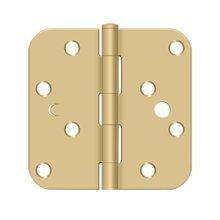 "4"" x 4"" x 5/8"" Radius Hinge, Bench Mark, Security - Brushed Brass"