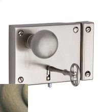 Satin Brass and Black 5704 Small Horizontal Rim Lock