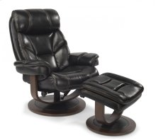 West Leather Chair and Ottoman