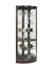 Sable Mirrored Back Curved Corner Curio