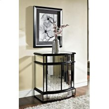 Mirrored 2 Door 1 Drawer Console