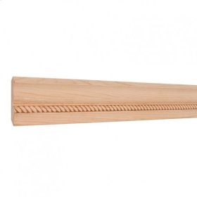 "2-3/4"" x 1/2"" Rope Embossed Moulding Species: Hard Maple. Priced by the linear foot and sold in 8' sticks in cartons of 120'."