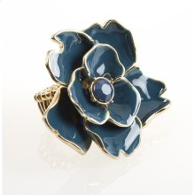 BTQ Teal Flower Ring