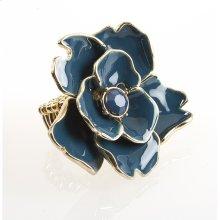 BTQ Teal Flower Ring