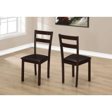 "DINING CHAIR - 2PCS / 35""H CAPPUCCINO / DARK BROWN SEAT"