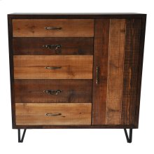 Sturtevant 5 Drawer / 1 Door Clean Rustic Chest