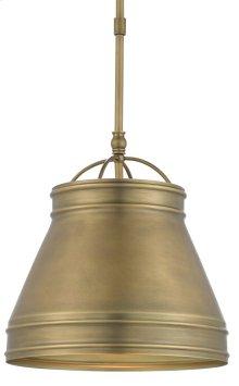 Lumley Brass Pendant