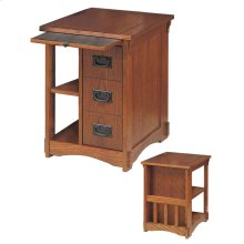 """Mission Oak"" Magazine Cabinet Table"