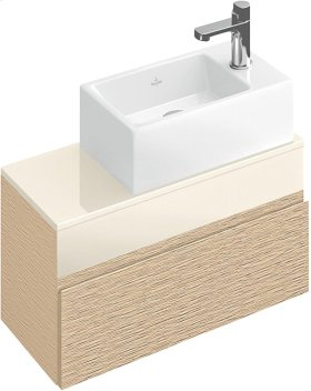 Handwashbasin Angular - Glossy Black Ceramicplus