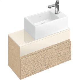 Handwashbasin Angular - Matte White CeramicPlus