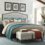 Queen/Peppermill Commonwealth Upholstered Bed