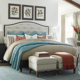 Cal King/Tobacco Commonwealth Upholstered Bed