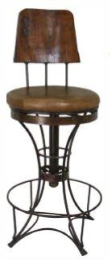 "30"" Swivel Barstool W/Iron Base"