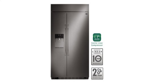 LG STUDIO - 26 cu. ft. Ultra-Large Capacity Side-by-Side Refrigerator with Ice & Water Dispenser