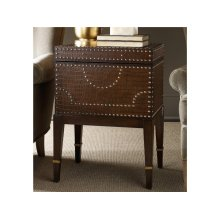 Croc Embossed Robus Leather Nailhead Box on Stand