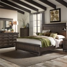 King California Panel Bed, Dresser & Mirror, Chest