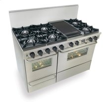 """48"""" Dual Fuel, Convect, Self Clean, Open Burners, Stainless Steel"""
